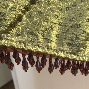 Betsey Johnson Skirt shimmering ,dangling beads